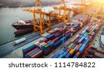 logistics and transportation of ... | Shutterstock . vector #1114784822