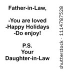 father in law gifts from... | Shutterstock . vector #1114787528