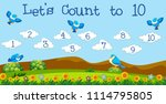a math lesson count to 10... | Shutterstock .eps vector #1114795805