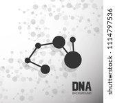 bottom structure. molecular and ... | Shutterstock .eps vector #1114797536
