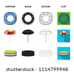 multicolored swimming circle... | Shutterstock .eps vector #1114799948