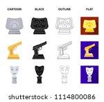 gold pistol  silver prize for...   Shutterstock .eps vector #1114800086