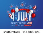 independence day usa sale... | Shutterstock .eps vector #1114800128
