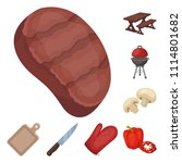 barbecue and equipment cartoon... | Shutterstock .eps vector #1114801682