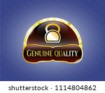 gold shiny emblem with... | Shutterstock .eps vector #1114804862