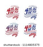 fourth of july  united stated... | Shutterstock .eps vector #1114805375