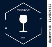 wineglass icon symbol | Shutterstock .eps vector #1114806632