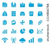 set of basic ui ux icons  with... | Shutterstock .eps vector #1114806788