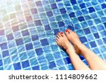 beautiful girl relaxing in... | Shutterstock . vector #1114809662