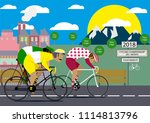 cycling poster design template... | Shutterstock .eps vector #1114813796