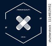 cross adhesive bandage  medical ... | Shutterstock .eps vector #1114815452