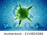 3d rendering viruses in... | Shutterstock . vector #1114824386