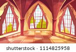ballroom with shaped windows... | Shutterstock .eps vector #1114825958
