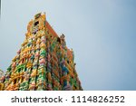 temple tower of a hindu temple... | Shutterstock . vector #1114826252