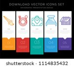 5 vector icons such as brush ... | Shutterstock .eps vector #1114835432