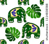 seamless asian pattern with... | Shutterstock .eps vector #1114838588