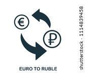 euro to ruble icon. mobile app  ...   Shutterstock .eps vector #1114839458