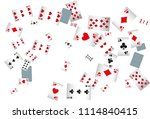 casino playing cards are... | Shutterstock .eps vector #1114840415