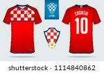 soccer jersey or football kit... | Shutterstock .eps vector #1114840862