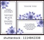 vintage delicate invitation... | Shutterstock .eps vector #1114842338