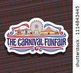vector logo for carnival... | Shutterstock .eps vector #1114843445