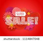 summer sale promo banner....   Shutterstock .eps vector #1114847048