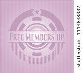 free membership pink emblem | Shutterstock .eps vector #1114848332