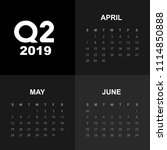 second quarter of calendar 2019  | Shutterstock .eps vector #1114850888