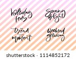 hand drawn vector typography... | Shutterstock .eps vector #1114852172