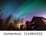 aurora in finland   Shutterstock . vector #1114861922