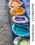 chefchaouen  blue city of...   Shutterstock . vector #1114861946