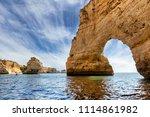 benagil cave in portimao  ...   Shutterstock . vector #1114861982