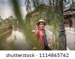sawara canal city of japan   Shutterstock . vector #1114865762