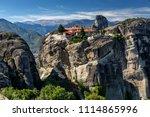 meteora in greece   Shutterstock . vector #1114865996