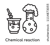 chemical reaction icon vector... | Shutterstock .eps vector #1114873055