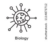 biology icon vector isolated on ... | Shutterstock .eps vector #1114873712