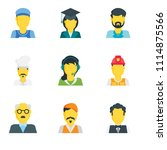 set of 9 simple editable icons... | Shutterstock .eps vector #1114875566
