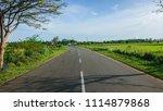 beautiful infinite road with... | Shutterstock . vector #1114879868