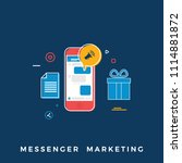 messenger marketing concept.... | Shutterstock .eps vector #1114881872