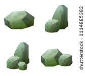 vector magic stone icon set....