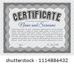 grey diploma tegrey diploma or ... | Shutterstock .eps vector #1114886432