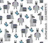 seamless vector pattern with... | Shutterstock .eps vector #1114889975