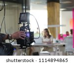 behind the scenes of the camera ... | Shutterstock . vector #1114894865