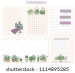 daily and weekly planner... | Shutterstock .eps vector #1114895285
