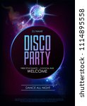 disco ball background. disco... | Shutterstock .eps vector #1114895558