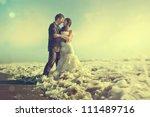 groom and bride | Shutterstock . vector #111489716