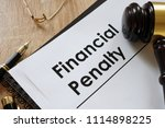 documents about financial... | Shutterstock . vector #1114898225
