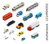transport car 3d icons set... | Shutterstock .eps vector #1114904552