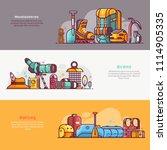 summer outdoor activities icons ... | Shutterstock .eps vector #1114905335