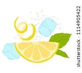 pattern lemonade  carbonated... | Shutterstock .eps vector #1114905422